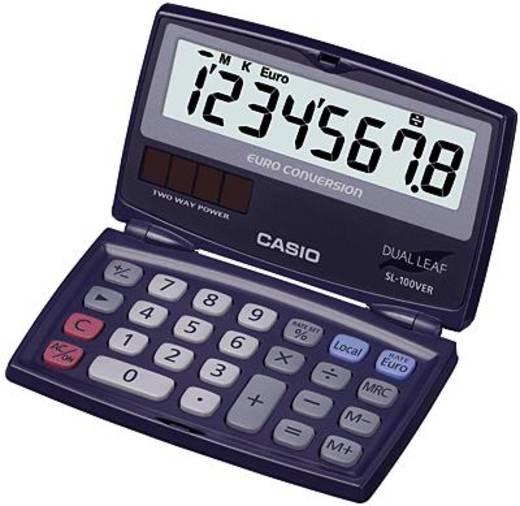 Taschenrechner Casio SL-100VER Blau Display (Stellen): 8 solarbetrieben, batteriebetrieben (B x H x T) 91 x 9.4 x 110.5