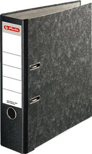 Herlitz Ordner Recycling Plus/10900256 für DIN A4 schwarz 80mm