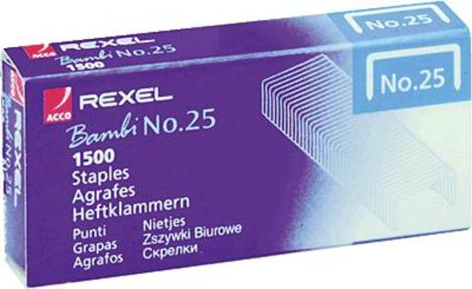 Rexel Heftklammern Nr. 25/R05020 verzinkt Inh.1500
