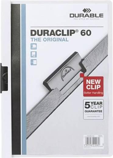 Durable Klemmmappe DURACLIP 60 DIN A4 max. Anzahl der Blätter: 60 Bl. (80 g/m²) Weiß 220902