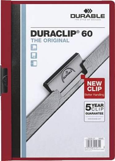 Durable Klemmmappe DURACLIP 60 DIN A4 max. Anzahl der Blätter: 60 Bl. (80 g/m²) Aubergine 220931