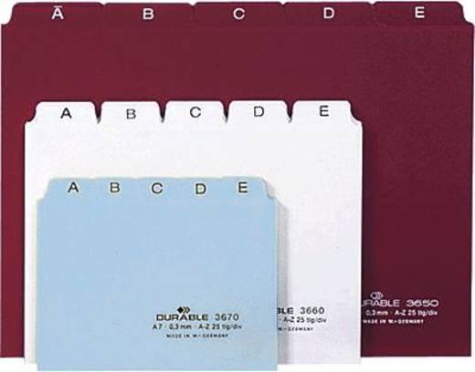 Durable Leitregister/3670-02 DIN A7 quer weiß PP