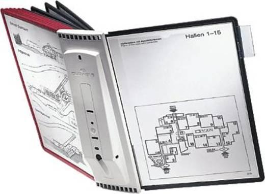 Durable Sichttafelwandhalter SHERPA® WALL 10 Rot, Schwarz