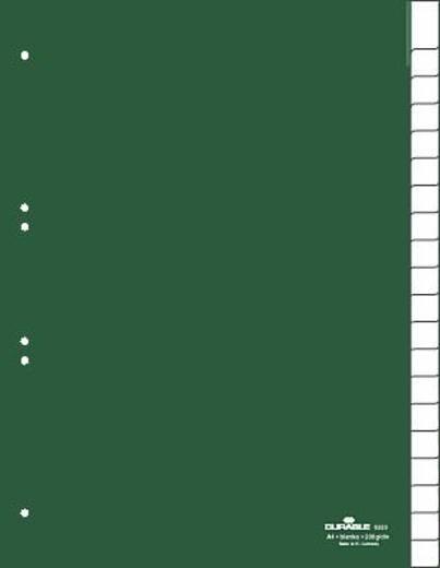 Durable Kunststoffregister Blanco/6223-05 DIN A4 hoch grün 20-teilig
