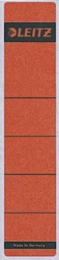 Leitz Rückenschilder breit/lang/1640-00-25 61x285mm rot Inh.10