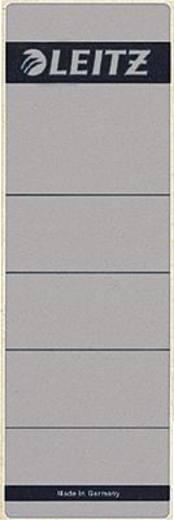 Leitz Rückenschilder breit/kurz Großpackung/1642-10-85 61x191mm grau Inh.100