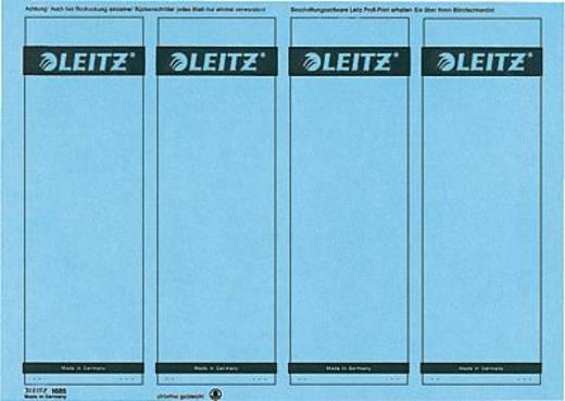 Leitz Rückenschilder PC-beschriftbar/1685-20-35 61x191mm blau Inh.100