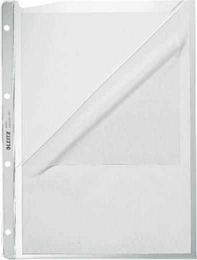 Leitz Prospekthüllen oben + Lochseite offen/4780-00 A4/130my Farblos geprägt PP