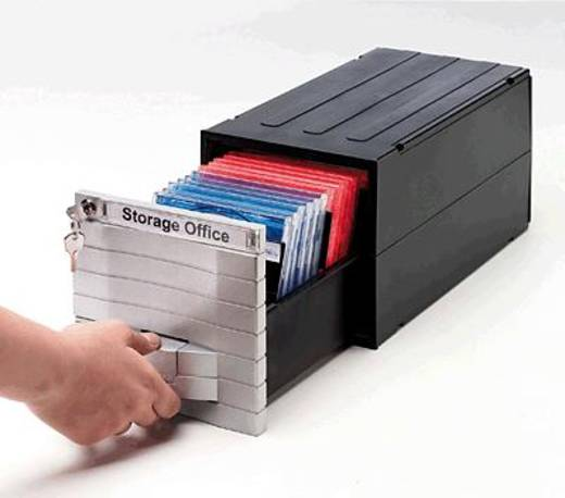 Exponent CD/CD-ROM Box Media Solution/34601 silber/schwarz