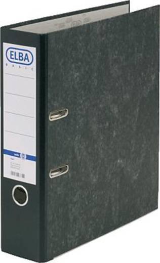 ELBA Ordner rado basic, Wolkenmarmor/10428SW für DIN A4 schwarz