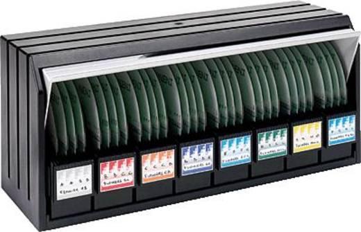 Exponent CD/DVD Archivierungssystem Library/14004 grau/schwarz Grau-Schwarz 96 CDs ohne Hülle Exponent