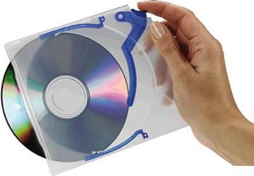 EXPONENT CD/DVD-Hüllen Jet/60501 transparent/blau Inh.10