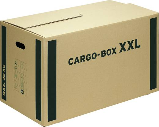 Smartboxpro Cargobox mit Grifflöcher/118251122 750x420x440mm braun 760x430x460mm
