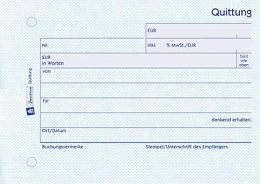 Avery Zweckform 300 Quittung inkl. MwSt., A6 quer, mit Blaupapier, 50 Blatt