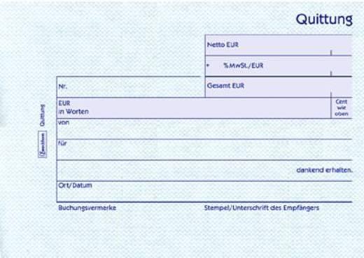 Zweckform Quittungen mit MwSt-Nachweis/302 DIN A6 quer weiß Inh.50 Blatt