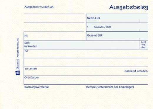 Zweckform Ausgabebeleg/303 DIN A6 quer gelb Inh.50 Blatt