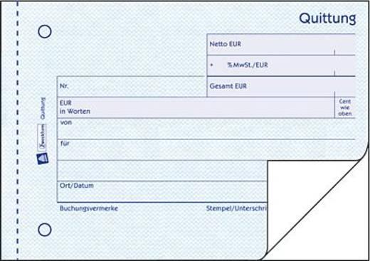 Zweckform Quittungen mit MwSt-Nachweis/306 DIN A6 quer weiß/weiß Inh.2x50 Blatt