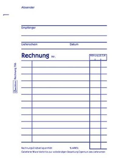 Zweckform Rechnungen/706 DIN A6 hoch weiß Inh.2x50 Blatt