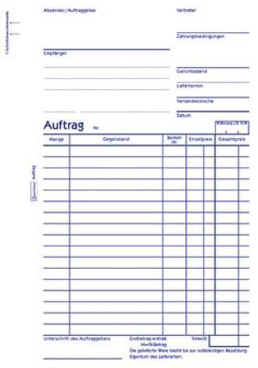Zweckform Auftragsbücher/756 DIN A5 hoch weiß/weiß Blaupapier Inh.2x50 Blatt