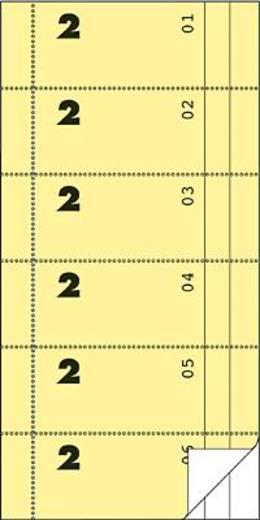 Zweckform Bonbücher/832 105x198 mm gelb/weiß Inh.2x50 Blatt