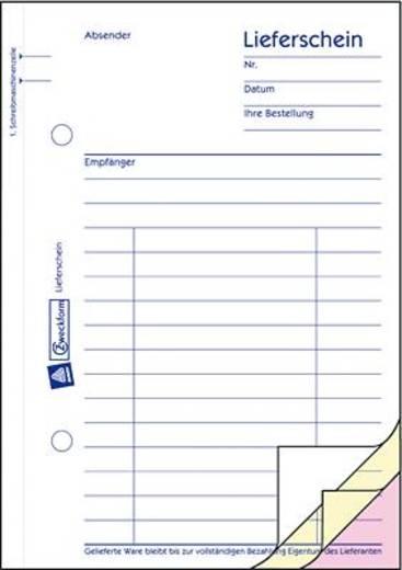 Zweckform Lieferscheine/Empfangsscheine/1723 A6 hoch