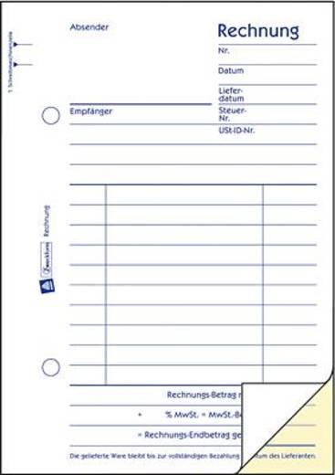 Zweckform Rechnung /1732 A6 hoch weiß/gelb selbstdurchschreibend Inh.2x40 Blatt