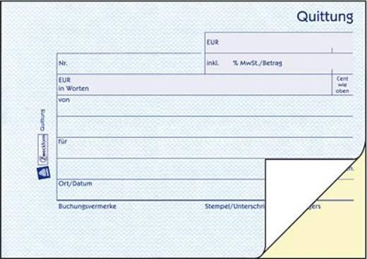 Zweckform Quittungen/1736 A6 quer blau/gelb selbstdurchschreibend Inh.2x40 Blatt