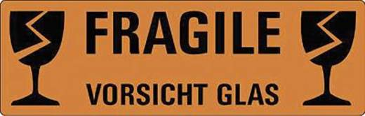 Avery Zweckform Hinweis-Etiketten Vorsicht Glas/3050 119x38 mm rot Inh.10 3050