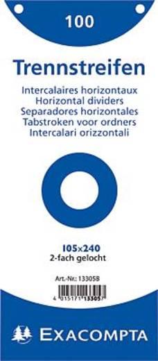 Brause Trennstreifen Premium/13305B weiß Inh.100