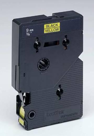 Schriftband Brother TC TC-691 Bandfarbe: Gelb Schriftfarbe:Schwarz 9 mm 7.7 m