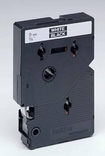 Schriftband Brother TC TC-395 Bandfarbe: Schwarz Schriftfarbe:Weiß 9 mm 7.7 m