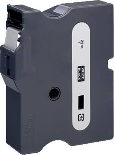 Schriftband Brother TX TX-355 Bandfarbe: Schwarz Schriftfarbe:Weiß 24 mm 15.4 m