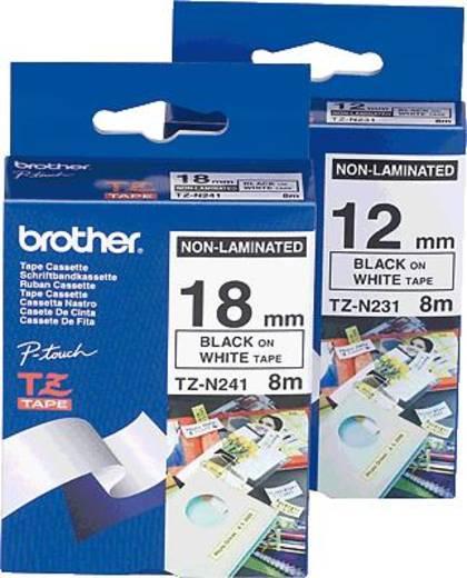 Endlos-Etiketten-Band Brother TZe TZe-N231 Bandfarbe: Weiß Schriftfarbe:Schwarz 12 mm 8 m
