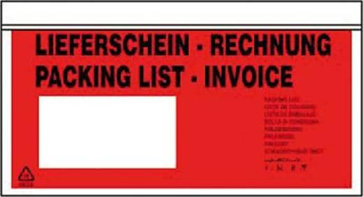 Dokumententaschen DL Lieferschein-Rechnung/722182 rot/schwarz Inh.500
