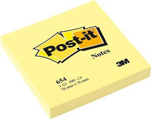 Post-it® Haftnotiz Notes 654 76 x 76 mm gelb Inh.100 Blatt