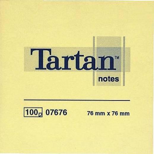 Tartan Haftnotizen notes 007676 76 x 76 mm hellgelb Inh.100 Blatt