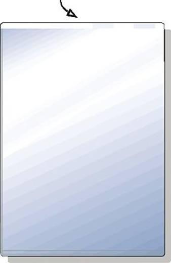 HETZEL Ausweishüllen/23400090 A7 transparent PVC Weichfolie 180 my