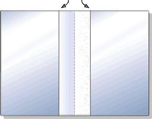 HETZEL Ausweishüllen/23411090 105x148 (A6) transparent PVC Weichfolie 180my