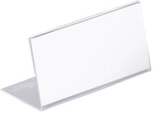 Durable Tischnamensschilder aus Acryl 52x100mm farblos 10St., 8055-19