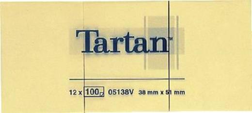Tartan Haftnotizen notes 005138 38 x 51 mm hellgelb Inh.100 Blatt