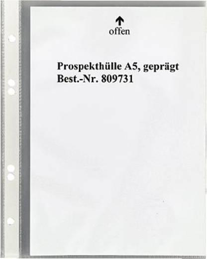 5 Star Prospekthüllen DIN A5, genarbt geprägt oben 60my PP Inh.100