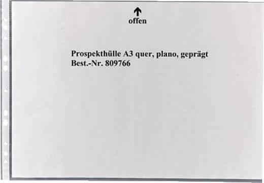 5 Star Prospekthüllen, quer, geprägt A3 plano oben, 80my PP Inh.100