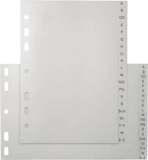5 Star Kunststoffregister A - Z A-Z, A5hoch grau 120 my