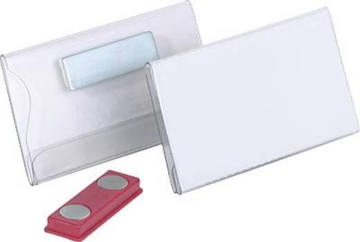 Durable Namensschilder mit Magnet 40 x 75 mm farblos 25 St., 8116-19