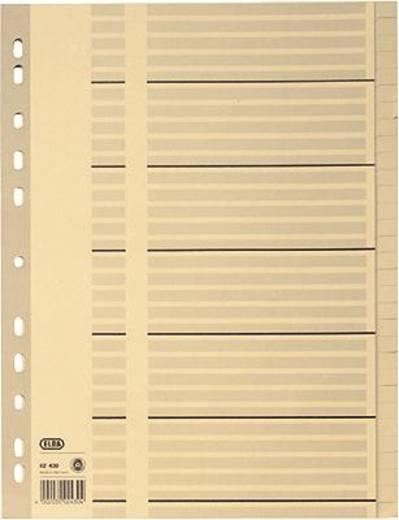 Elba Tauenregister, blanko/02430 297x230mm hellgrau 100 g/qm Inh.31-teilig