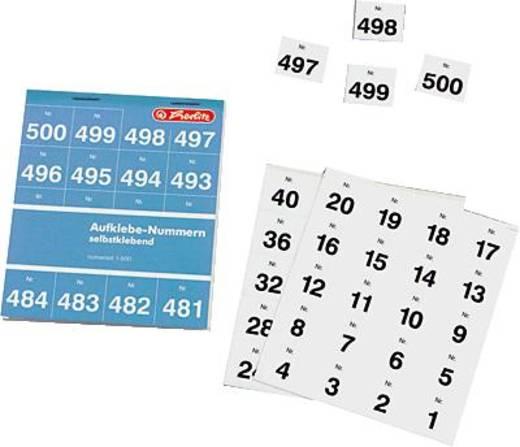 herlitz Aufklebenummern 1-500/791871 weiß Inh.500