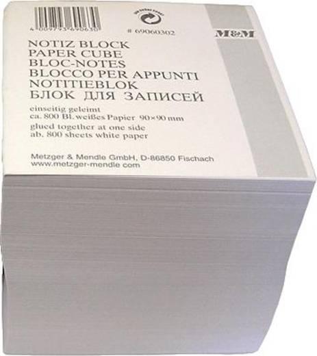 M&M Notizklotz/69060302SP 90x90x90 mm weiß