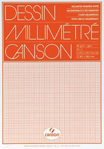 Canson Millimeterpapier DIN A4 Orange 67501 Inhalt 50 St.