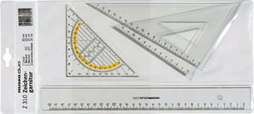 Rumold Zeichengarnitur/Z310 rauchgrau getönt Kunststoff 4-teilig Inh.4 Teile