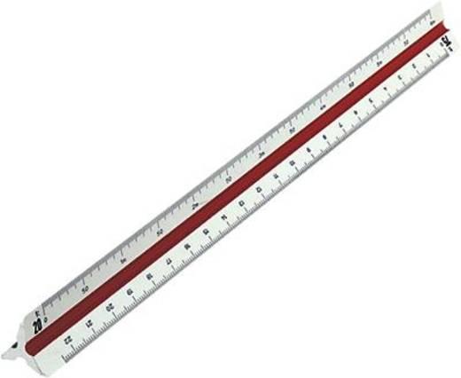 Rumold Präzisions-Dreikantmaßstab 160/160/1/30 30 cm weiß Kunststoff architect 1
